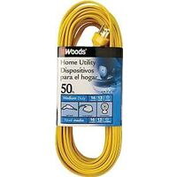 Single Outlet Extension Cord, 16/3 Gauge 50'