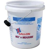 Pail w/Foam Grip, Mix/Measure, 5 Gal