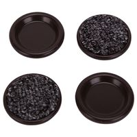 CARPETED CUPS RND 1-3/4IN BRN