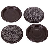 CARPETED CUPS RND 1-5/8IN BRN
