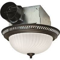 Air King DRLC701 Decorative Round Exhaust Fan/Light