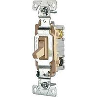 Three Way Heavy Duty Grade Toggle Switch, Ivory