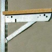 Hard Double Slot Bracket, Galv Steel, 22""