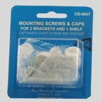 Knape & Vogt CD-0047 Carded Screw and Cap Set