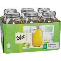 BALL WIDE MOUTH CANNING MASON JARS 1/2 GALLON