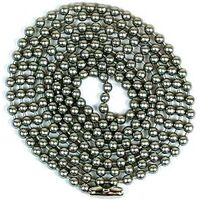 CHAIN BEADED 3FT BRSHD PEWTER