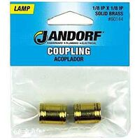 Lamp Couplings, Polished Brass