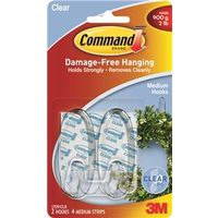 Command 17091CLR Medium Designer hook