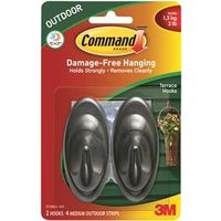 Command 17086S-AW Medium Terrace Hook