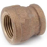 "Low Lead Brass Reducing Coupling, 3/4"" x 1/2"""