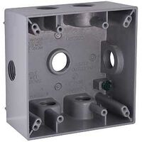 "Rectangular Outlet Box  , 7 1/2"" Gray"