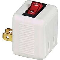 Plug In Switch, White