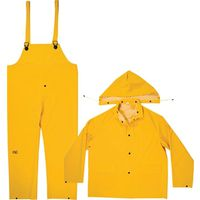 RAIN SUIT HEAVY PVC 3PIECE MED