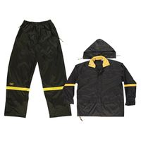 RAIN SUIT NYLON BLACK 3PC MED