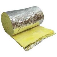 "Duct Insulation Foil Fiberglass Wrap, 2"" x 12"" x 15'"