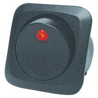 Calterm 40600 Automotive Lighted Round Rocker Switch with Red LED