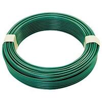 Steel Clothesline Wire, 100' Green Vinyl Coated