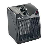 Compact Ceramic Heater with Thermostat, 1500 Watts