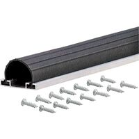 Aluminum & Vinyl Garage Door Bottom, 18' Black