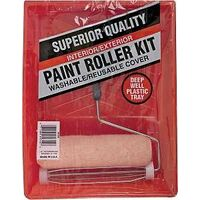 Paint Roller & Tray Set, 3 Pc