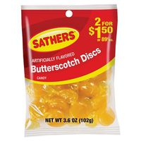 Sathers 10147 Non-Chocolate Butterscotch Discs Candy