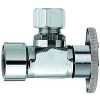 "Low Lead Angle Quarter Turn Water Supply Valve, 3/8"" x 3/8"""