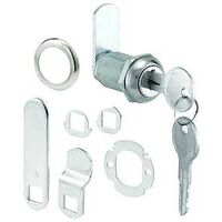 "Keyed Alike Cam Lock, 13/16"" x 1 1/8""Chrome"