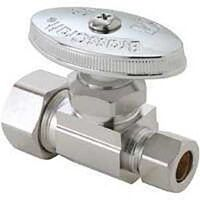 "Low Lead Straight  Stop Water Supply Line Valve, 1/2"" x 1/4"""