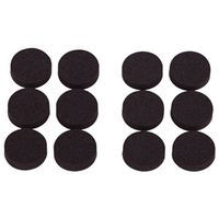 PADS FOAM RUBBR 3/4IN 19MM BLK