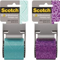 Scotch 141-PRTD3 Shipping Packaging Tape With Dispenser