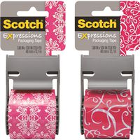 Scotch 141-PRTD4 Shipping Packaging Tape With Dispenser