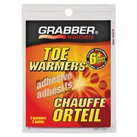 TOE WARMER ADHESIVE 6 HR 2PACK
