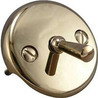 Trip Lever Face Plate with Screws, Polished Brass