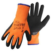 GLOVE LATEX CTD PALM ORANGE XL