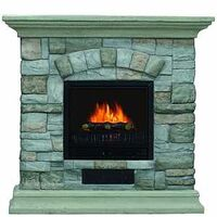 ELECTRIC FIREPLACE 40IN GREY