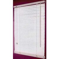 "Faux Wood Blinds, 32"" x 64"" White"