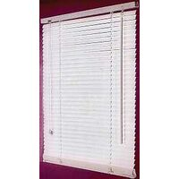 "Faux Wood Blinds, 36""W x 64""H White"