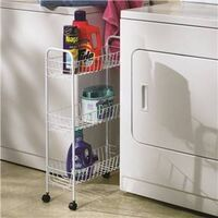 WHITE SLIM, 3SHELF, UTILITY CART