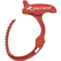 Cable Clamp Cord Organizer, Medium Red