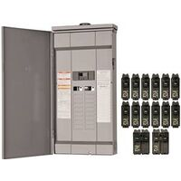 Rain Proof 14 Breaker Load Center, 200 Amp