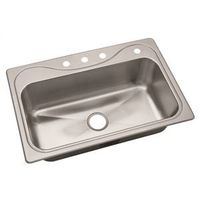 SINK SINGLE BOWL SS 33X22X9 4H