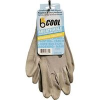 Breathable Gloves, Large Grey