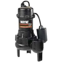 Cast Iron Sewage Pump, 1/2 Hp