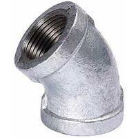 Galvanized 45 Degree Malleable Iron Elbow, 4""