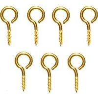 #216 Small Solid Brass Eye Screws