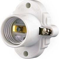 Thermoset Cleat Receptacle, White
