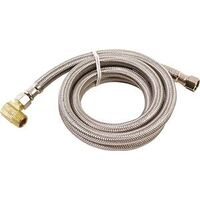 "Dishwasher Supply Line, 3/8"" x 3/8"" x 60"" Stainless Steel"