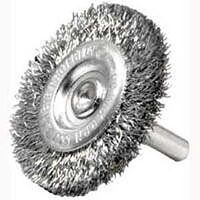 "Crimp Wire Wheel Brush, 3"" Fine"