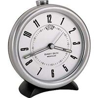 Key Wound Alarm Clock, Grey Small