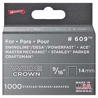 Arrow Wide Crown Staples, 9/16""